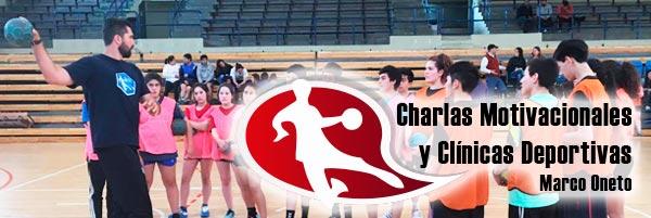 Charlas motivacionales y clínicas deportivas de Marco Oneto