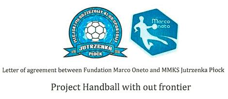 Carta de acuerdo entre la Fundación Marco Oneto y MMKKS Jutrzenka Plock.