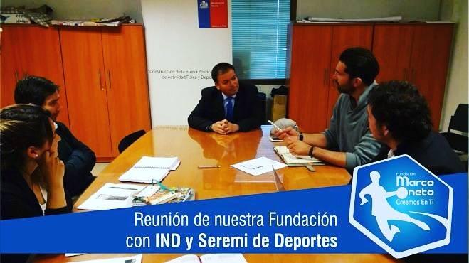Reunión de nuestra Fundación con IND y Seremi Deportes
