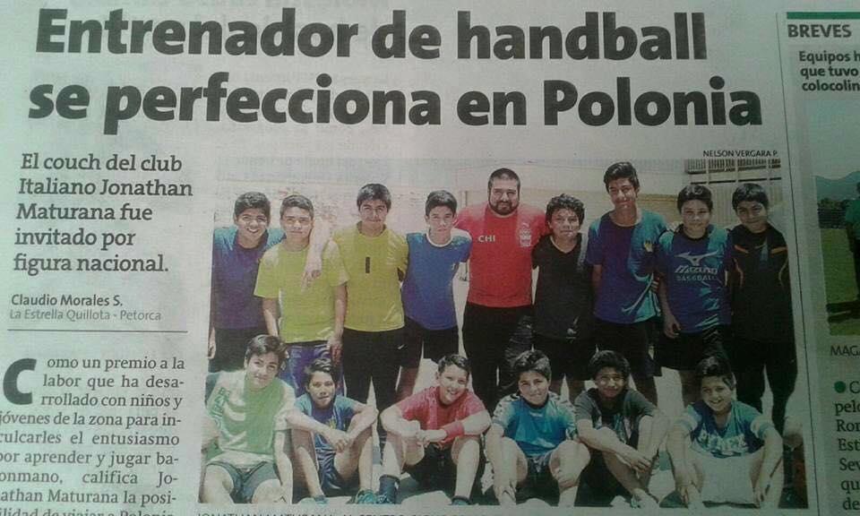 Entrenador de handball se perfecciona en Polonia