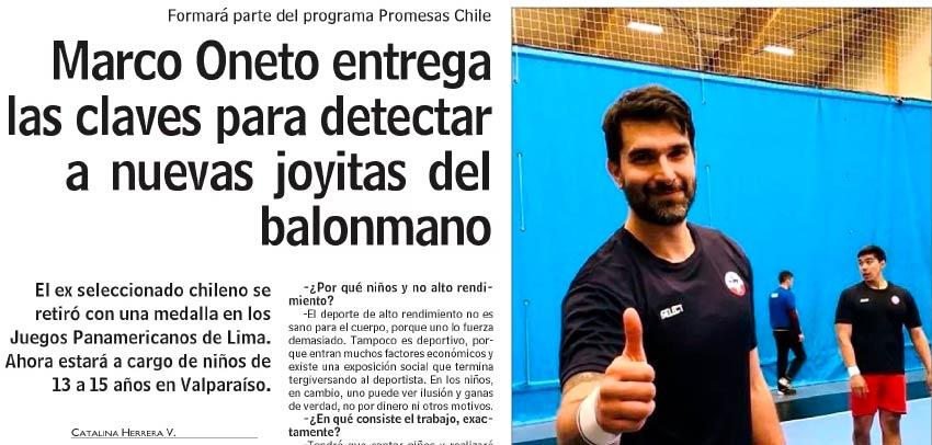 Marco Oneto entrega las claves para detectar a nuevas joyitas del balonmano
