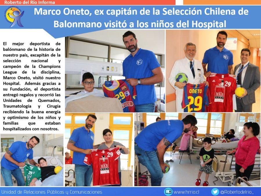 Marco Oneto visitó el Hospital de Niños Roberto del Rio